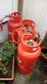 3 Gas Bottles