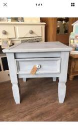 Professionally Painted Solid Pine Table with Drawer