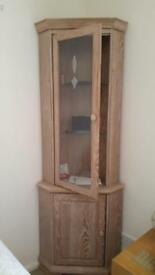 Limed oak effect corner unit
