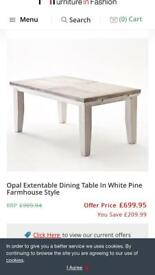 Kitchen extendable table
