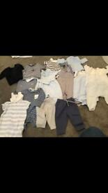Baby boys bundle 0-3 months