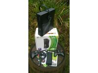 250GB XBOX 360 GO CONSOLE, FULL SET UP, FACTORY RE-SET VERY LITTLE USED BOXED IN EXCELLENT CONDITION