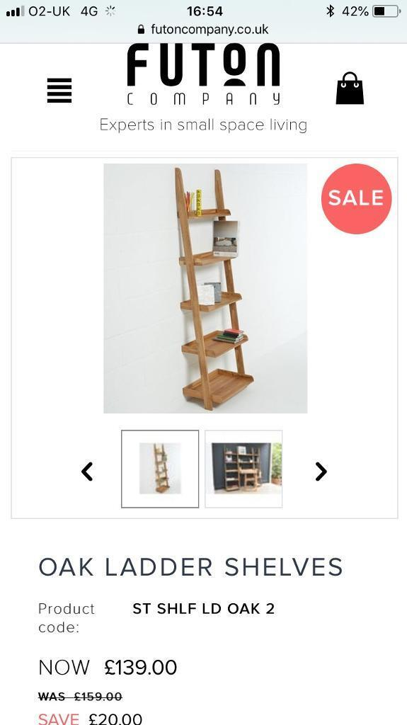 new styles b36ab e7645 Oak Ladder Shelves - Futon Company | in Exeter, Devon | Gumtree