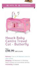Hauck travel cot