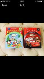 Singalong Pixar cars and Disney character books