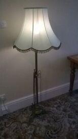brass stand lamp.
