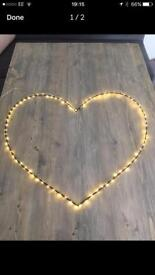 Large LED Heart Decorative Light