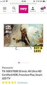 "PANASONIC - TX-50EX700B 50"" Smart 4K Ultra HD HDR LED TV"