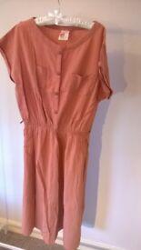 Vintage Apricot Peach Dress (size 16 / 44)