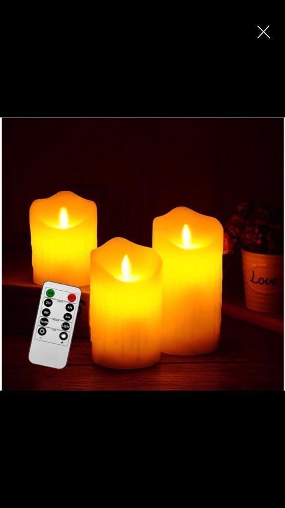 3 Set Led Candles Lighting