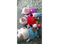 Peppa pig & George pig soft cuddly toys
