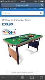 4ft snooker / pool table