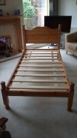 Antique Pine Single Bed Frame
