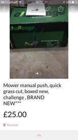 Mower grass cutter Manual push cordless brand new