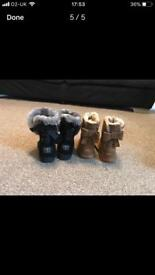 Toddler winter boots shoes uggs size 6