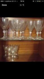 24 Crystal wine / sherry glasses