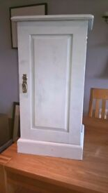 Vintage chalk painted small cupboard in Antique Sage - £60