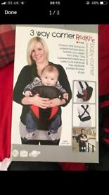3 way red kite baby carrier