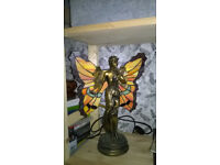 Tiffany Style Fairy Lamp with Stained Glass Wings