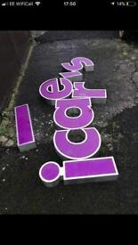 Letter signage signs metal
