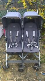 Maclaren double buggy with raincover