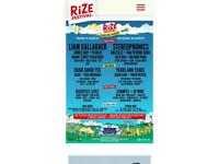 2 x Rize Festival tickets (price is for 2 x Rize Festival tickets (price is for both) Friday