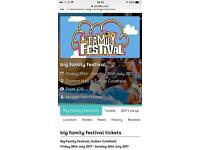 Big family festival Sutton Coldfield weekend family ticket