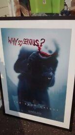 Framed poster of The Joker