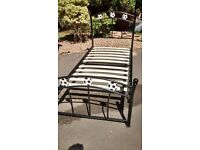 Metal Football Bed Frame for sale (black)