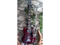 Gibson SG Bass with case. Excellent condition, great sound and classic looks.
