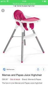 Girls high chair