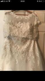 Size 22 Sincerity Wedding Dress, Jacket & Veil