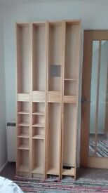 2 CD/DVD storage shelf units from Ikea-Ash veneer. Good condition