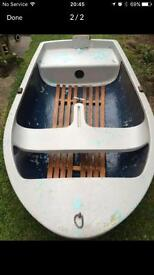 Fibreglass sailing dinghy