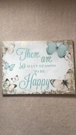 Cute butterfly wall canvas.