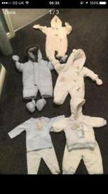 Baby boy snow suits age 0-3months brand new with tags