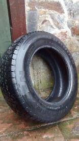Part worn Nexen tyre 195/70R, Radial A/T, plenty of tread, 104/102R, steel belted radial tubeless,