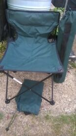 Two Easy folding camping chairs with carry case,