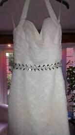 Wedding dress size 12 stunning REDUCED £140