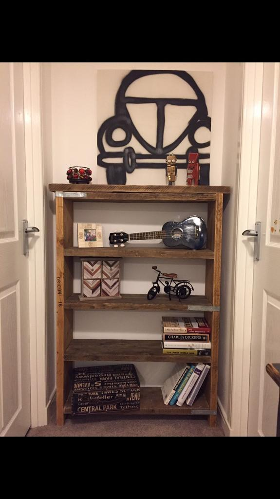 Beautiful hand made industrial style bookcase/shelf unit- different sizes upon request