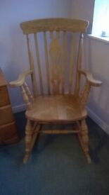Rocking chair solid wood beech