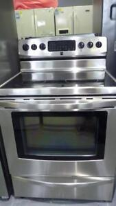 143 - Cuisiniere  Four Aut- Nettoyant KENMORE STAINLESS   Self- Clean Stove  Oven