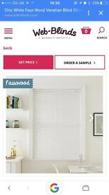 Faux wood chic white blind (brand new)