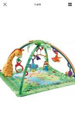 Jungle gym play mat