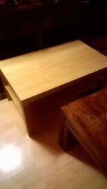 light beech coffee table
