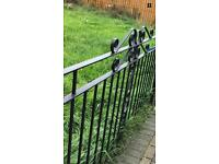 Heavy Duty Iron Fence panels with poles in Black