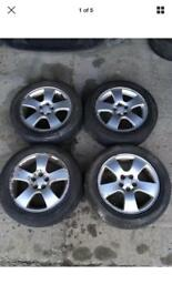 AUDI A3 A4 16 INCH ALLOY WHEELS WITH TYRES
