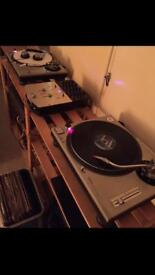 TECHNICS 1200 mk2 with ortofon concordes and numark sm1 (upgraded/modified)
