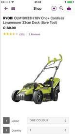 RYOBI Cordless Lawnmower