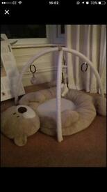 Mothercare 'loved so much' bear baby playmat and arch